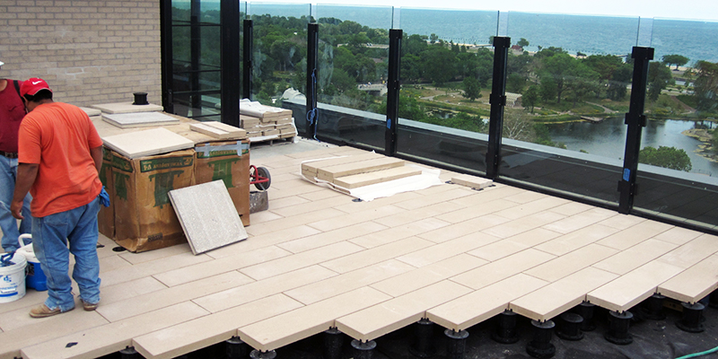 Bison Paver Supports Green Roof Solutions Hardscapes
